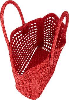 Barneys New York Site Diy Crochet Top, Crochet Beach Bags, Bag Crochet, Crochet Market Bag, Filet Crochet, Crochet Stitches, Crochet Hooks, Knit Basket, Net Bag