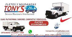 Transportes Especiales  Transportes, Fletes Y Mudanzas. Tony?s       Servicio Local, Nacional. Unidades propias Reparto Y ...  http://monterrey-city.evisos.com.mx/transportes-especiales-id-617770