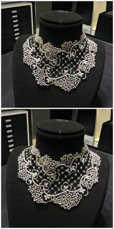 An incredible diamond necklace by Stefan Hafner.