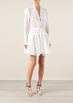 Azzedine Alaïa Skirts :: Azzedine Alaïa white cotton lace pleated skirt | Montaigne Market