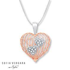 SOFIA VERGARA Necklace Diamonds 10K Gold/Sterling Silver