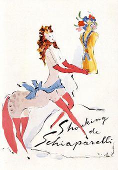 """NOIR BLANC un style: """"Shocking"""" de Schiaparelli illustré par Vertes..."""