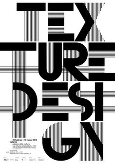 Texture design - I really like the use of a very bold sans serif typeface combined with overlapping lines. Typo Design, Graphic Design Posters, Graphic Design Typography, Graphic Design Inspiration, Design Design, Cover Design, Design Ideas, Typo Poster, Poster Fonts