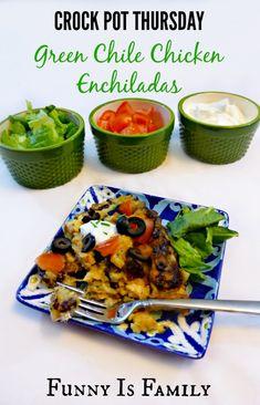 Crock Pot Green Chile Enchiladas