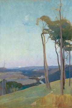 Sydney LONG,  Australia 1871 – London 1955.  The valley,  1898,  oil on canvas,   91.5 (h) x 61.2 (w) cm,  Art Gallery of South Australia