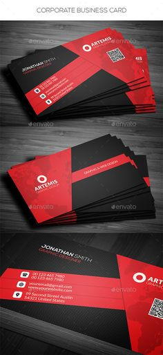Corporate Business Card Template #design Download: http://graphicriver.net/item/corporate-business-card/11524807?ref=ksioks