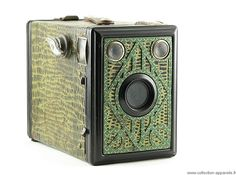 """""""Gap Box 6 x 9, made in France, 1950, box cameras played a very important role by making photography accessible to the general public. They meet the requirements of today's disposable cameras : to allow anyone to take pictures at the lowest price and in the most simple way. They were the first """"point and shoot"""" cameras."""""""