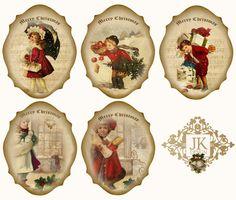 JanetK.Design Free digital vintage stuff: Voor de Kerstkaartmakers