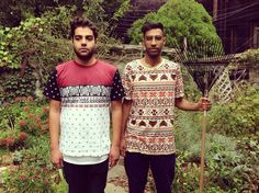 Das Racist is the new American Gothic. Wearing Moss Snow Globe and Moztec Tees. #streetwear