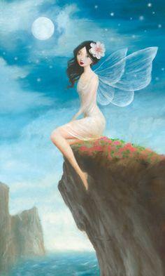fairy moon cliff top