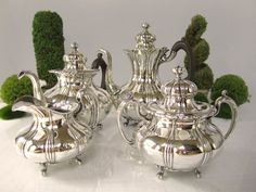 Antique Pairpoint Quadruple Silver Plate Tea by InventifDesigns