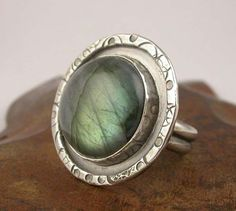 Ring | Laura Pacino. Sterling silver and Labradorite