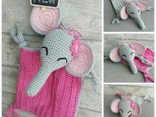 Häkelanleitung Schnuffeltuch Elefant