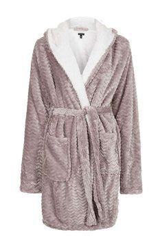 TALL Chevron Teddy Bath Robe