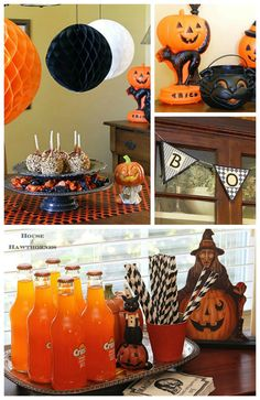 Lots of great ideas for your Halloween party decor!   via houseofhawthornes.com