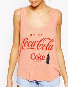 Image 3 ofWildfox Loves Coca-Cola Vest In Drink Coca-Cola Print