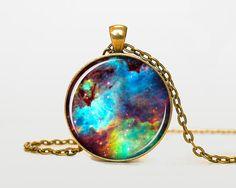 Omega Nebula pendant Omega Nebula necklace by RainforestNecklaces, $14.50