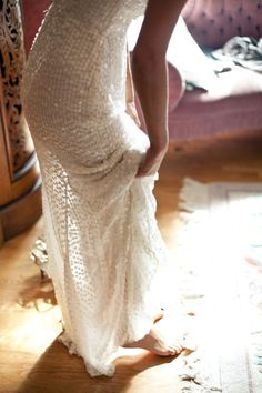 the Bride wore sequins by http://rachelgilbert.com/  Photography by stylishhipweddings.com