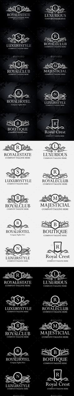 Heraldic Royal Luxurious Crest Logos Template Vector EPS, AI Illustrator