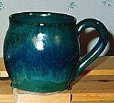 Lori Cole pottery - green mug