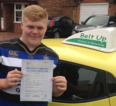 #SaturdaySuccesses  FIRST TIME test pass for Mitch in Brislington. Only 6 faults and the last test for Belt Ups banana car as Daren is getting a new car this week! Well Done!!!!