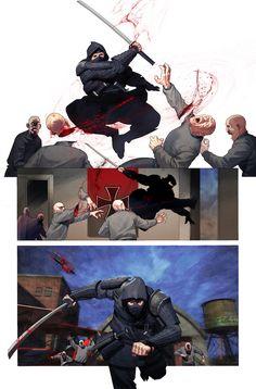 Arte Ninja, Ninja Art, Martial Arts Manga, Guerrero Ninja, Ninja Japan, Ninja Shadow, Comic Book Drawing, Art Of Fighting, Samurai Artwork