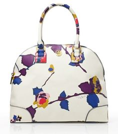 Tory Burch Printed Robinson Dome Satchel The Robinson Collection