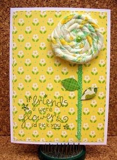 Rolled Flower Card
