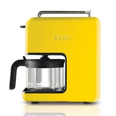 Coffee Maker with color. kMix coffee maker barefootstyling.com