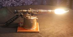 Akardia Designs : Blow torch lamp