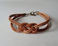 Leather Sailor Knot Bracelet
