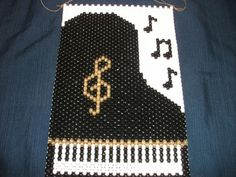 Beaded Piano Banner by Kathys25thHour on Etsy, $15.00