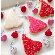 """""""My Valentine's Day """"Kiss"""" cookies turned out pretty good! Thanks Pinterest ❤️ #bakingqueen"""""""