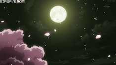 Tagged with gif, stars, cherryblossoms, aesthetic, moonlight; Cherry blossom under the moonlight gif Aesthetic Gif, Aesthetic Videos, Aesthetic Wallpapers, Anime Gifs, Anime Art, Anime Moon, Anime Kunst, Animation, Anime Scenery
