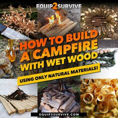 How To Build A Campfire With Wet Wood Using Only Natural Materials! (Bushcraft Skills)