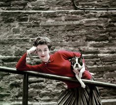Woman with style & her very stylish pup