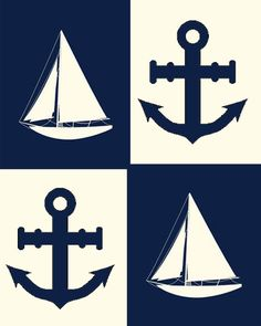 Sail Boats & Anchors. I like this for the theme in a little boys room. Very cute