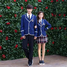 Japanese School Uniform For Boys and Girl JK British Korean College Students Costumes Women Shirt+Jacket+Skirt Clothes Set(China (Mainland))