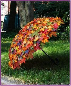 Garten Landschaftsbau Hinterhof Herbstlaub-Umbrella / Herbstlaub-Umbrella, made to measure, use at f Garden Crafts, Garden Art, Veg Garden, Indoor Garden, Deco Floral, Easy Garden, Upcycled Garden, Garden Tips, Spring Garden