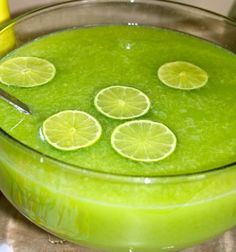 Green Party Punch ~ Lime Jello, Pineapple Juice, Orange Juice, Ginger Ale