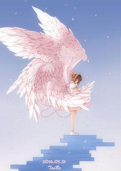 re 365370 sample card_captor_sakura dress kinomoto_sakura wings yibu. Cardcaptor Sakura, Sakura Kinomoto, Syaoran, Anime Sakura, Manga Anime, Manga Art, Sakura Sakura, Magical Girl, Clamp Manga