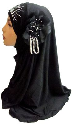 Gorgeous Amira Style hijab w/ flower applique hijabs abaya scarf jilbab kaftan in Middle East | eBay
