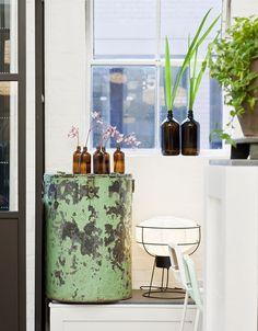 brown bottles for vases