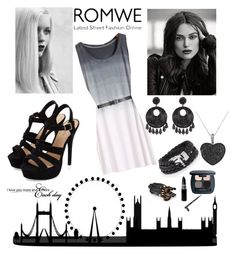 """""""ROMWE"""" by magic001 ❤ liked on Polyvore featuring GE, Allurez, Kenneth Jay Lane, Bare Escentuals, romwe and 2015"""