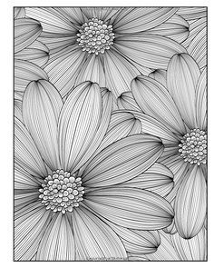 coloring pages - Diabolically Detailed Coloring Book (Volume (ArtFilled Fun Coloring Books) Zentangle Drawings, Zentangle Patterns, Art Drawings Sketches, Zentangles, Flower Sketches, Pencil Drawings, Flower Coloring Pages, Coloring Book Pages, Mandala Art