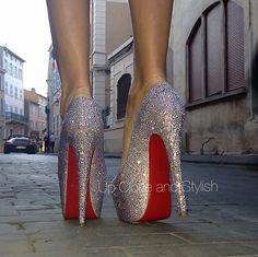 Christian Louboutin Sparkling - Up Close and Stylish