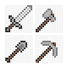 Kid Inspiration - All for the Boys - Minecraft pixel art templates