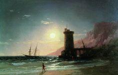 Seascape with Moon, 1849, Ivan Aivazovski