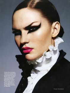 Dramatic eye makeup. http://www.eyeshadowlipstick.com/wp-content/uploads/2010/06/super-black-eyeliner.jpg