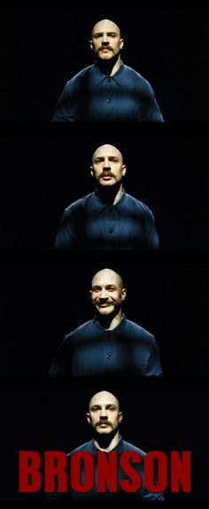 And Obviously this is where the Tom Hardy crush began. So when I found out he played Bane I was a bit more motivated to see Batman. Bronson 2008, Charles Bronson, Tom Hardy Bronson, Lights Camera Action, Cinema Posters, About Time Movie, Matthew Mcconaughey, Music Tv, Best Actor